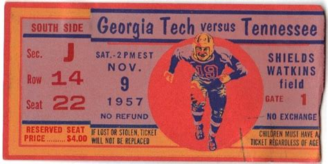 1957-11-09 – Georgia Tech at Tennessee | Georgia Tech ...