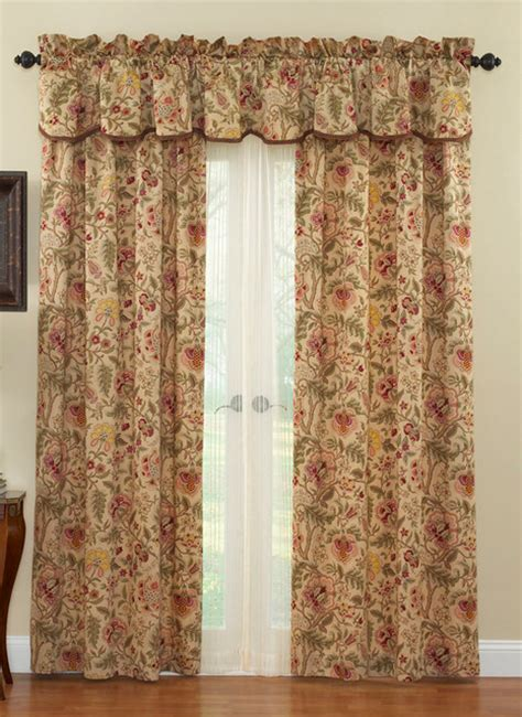 Country Style Drapes - country style curtain ideas traditional curtains