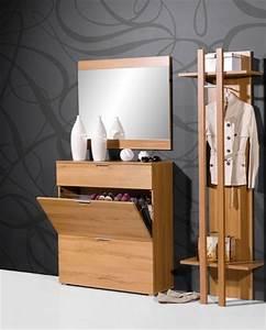 meuble entree vestiaire contemporain With meuble pour hall d entree 0 meuble dentree vestiaire pin blanc trendymobilier