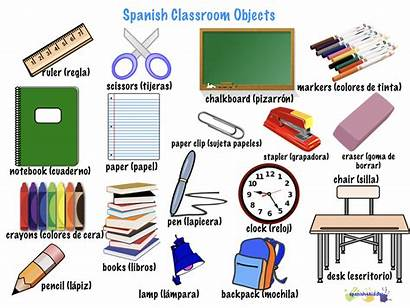 Spanish Classroom Objects Spanish4kiddos Vocabulary Worksheets Supplies
