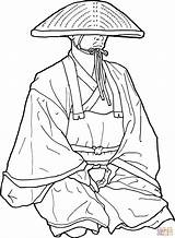 Japan Coloring Colorear Monje Dibujos Budista Coloriage Colorare Japon Imprimir Japanse Japoneses Temple Monnik Monk Buddha Dibujo Kleurplaat Buddhist Printable sketch template