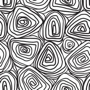 Organic Patterns Black and White