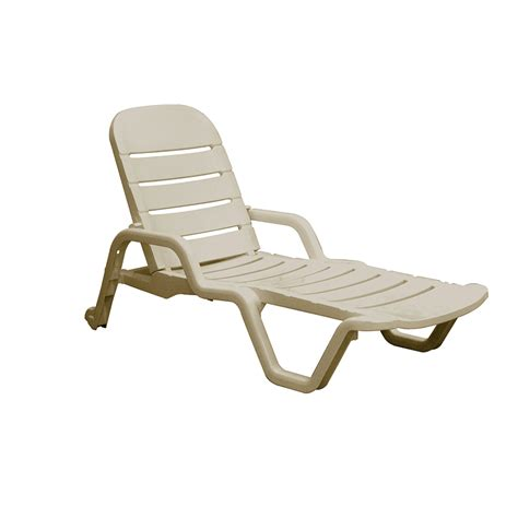 chaise polypropylene white resin stackable patio chaise lounge chair shop
