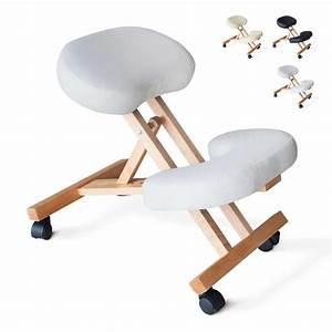 Chaise De Bureau En Bois : chaise orthop dique de bureau en bois confortable si ge ergonomique balancewood ~ Mglfilm.com Idées de Décoration