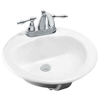 Glacier Bay Pedestal Sink by Glacier Bay Drop In Bathroom Sink In White 13 0013 4whd