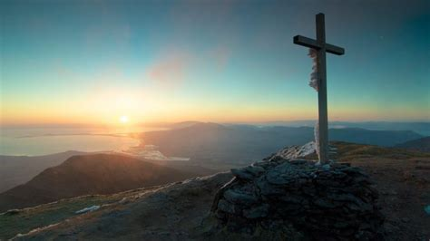 Jesus On The Cross Wallpaper Cross Sunset Landscape Sky Nature Mountains Catholic Wallpapers Hd Desktop And Mobile