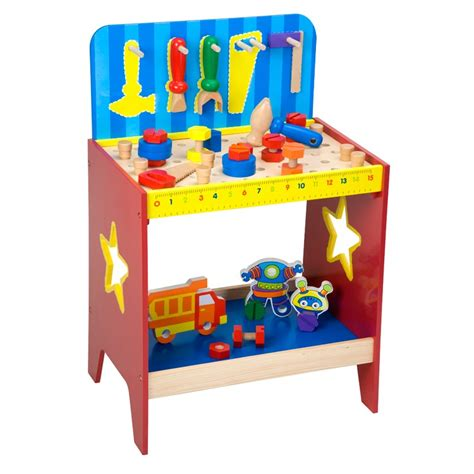 Children S Tool Bench Playset by Children Wooden Work Bench Educational Toys Planet