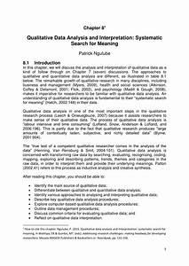 Pdf  Qualitative Data Analysis And Interpretation