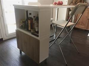 Table De Cuisine Ikea : table haute ilot de cuisine de delphine l120 x l60 x h90cm ~ Teatrodelosmanantiales.com Idées de Décoration