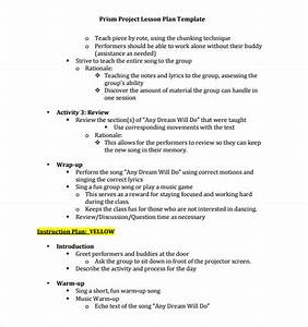 sample music lesson plan template 7 download documents With music business plan template free download