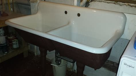cast iron sinks for sale 1940 vintage american standard double basin porcelain over