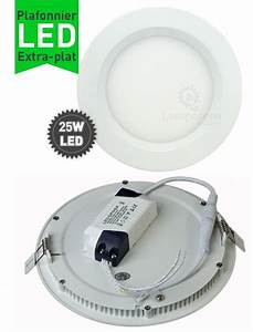 Spot Encastrable Extra Plat : lumi re plafond led 25 watts d polie diam tre 240 mm ~ Edinachiropracticcenter.com Idées de Décoration