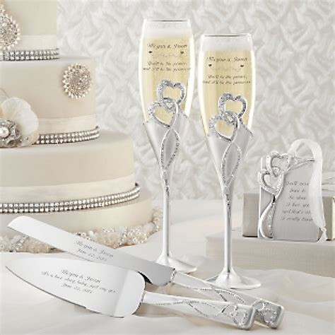cake knife and server set personalized