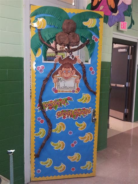 monkey themed classroom door grade 134 | 53fe2d70cf08a9288838255f3cd093df