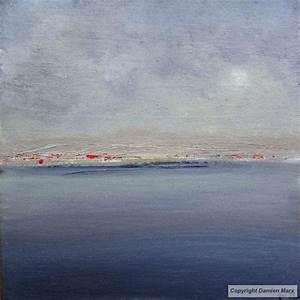 tableau peinture contemporaine paysage marin 20x20 cm With couleur gris bleu peinture 4 tableau peinture contemporaine paysage minimaliste