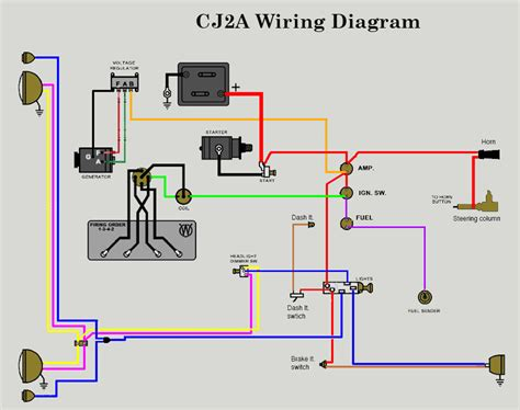 12 Volt Light Wiring Diagram by 12v Wiring Diagram The Cj2a Page Forums Page 1