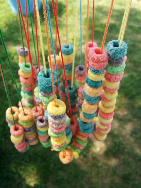 preschool picnic fruit loop necklaces  images kids