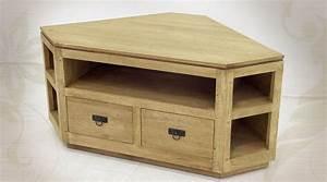 Meuble Angle Bois : meuble tv d 39 angle de style rustique en bois massif ~ Edinachiropracticcenter.com Idées de Décoration