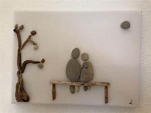 Bilder Mit Steinen Selber Machen : bilderrahmen steinbild auf leinwand familie ein designerst ck von steinbilder ~ Eleganceandgraceweddings.com Haus und Dekorationen