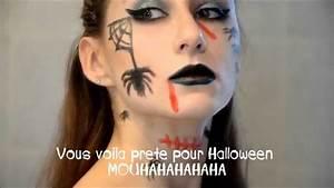 Maquillage D Halloween Pour Fille : maquillage facile halloween 2015 sorci re glam youtube ~ Melissatoandfro.com Idées de Décoration