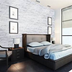 Slate stone wall tile - White quartz - Surface | Artika