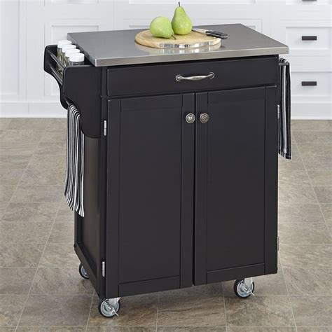 kitchen islands and carts lowes shop home styles black scandinavian kitchen carts at lowes 8286
