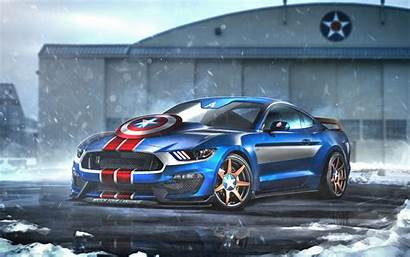 Captain America Mustang Wallpapers Gt350r 8k Ford