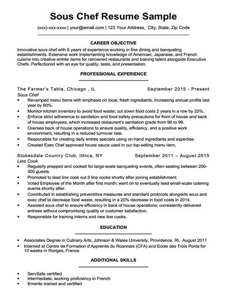 Chef Resume by Downloadable Chef Resume Sles Writing Tips Rc