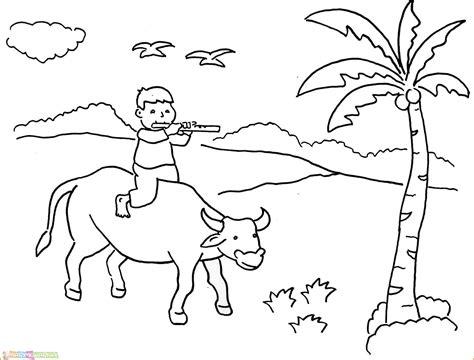 18 gambar mewarnai sapi untuk anak terbaru 2020