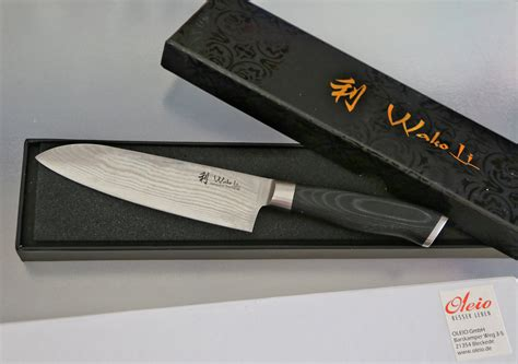 damascus steel kitchen knives wakoli 1dm san mik santoku damascus knife japanese