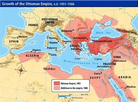 Ottoman Empire 1453 by Growth Of The Ottoman Empire