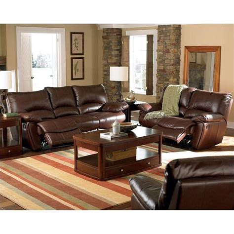 brown leather recliner sofa set coaster clifford 3 piece reclining leather sofa set in