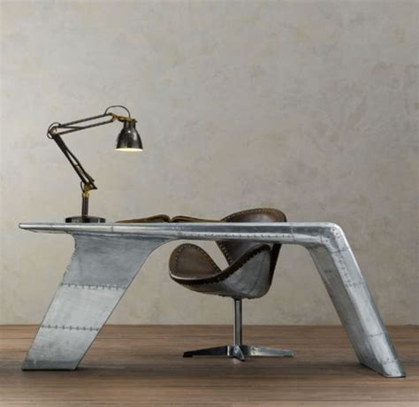 Modern Aviator Wing Desk From Restoration Hardware 7 Pics