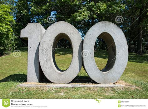 The Number 100 Stock Image. Image Of Concrete, Number