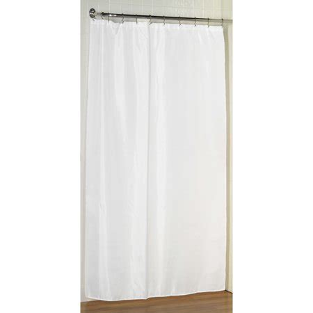 stall size shower curtain white stall size fabric shower curtain weighted hem