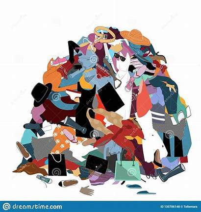 Pile Stuff Laundry Clipart Dirty Clothes Nothing