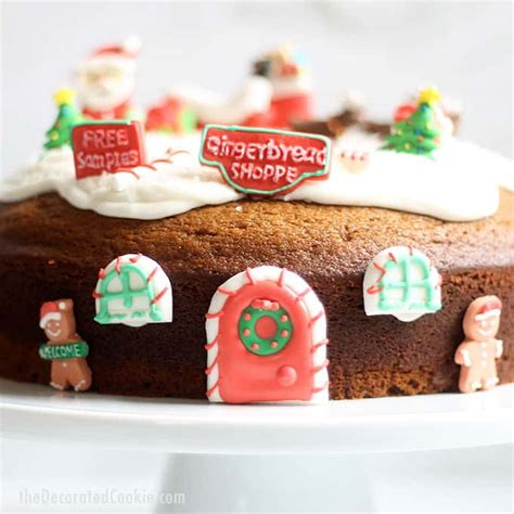 gingerbread bundt cake  icing decorated  christmas