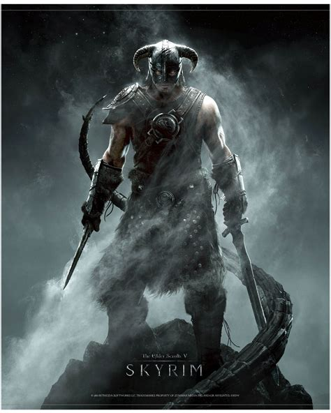 The Elder Scrolls V Skyrim Wallscroll Dragonborn