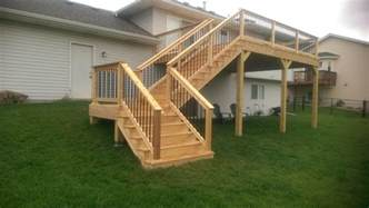 How To Build Stairs On A Deck by Deck Stairs Minneapolis Carter Custom Construction