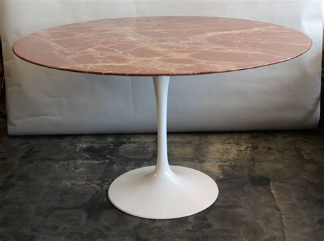 marble tulip dining table saarinen rose marble tulip dining table at 1stdibs
