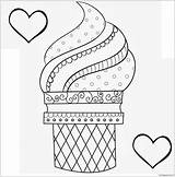 Coloring Ice Cream Printable Dessert Cone Printables Adults Detailed Toddler Desserts Sweet Drawings sketch template
