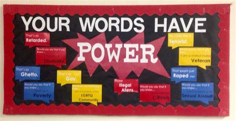 January Bulletin Board. Your Words Have Power #ra #isu