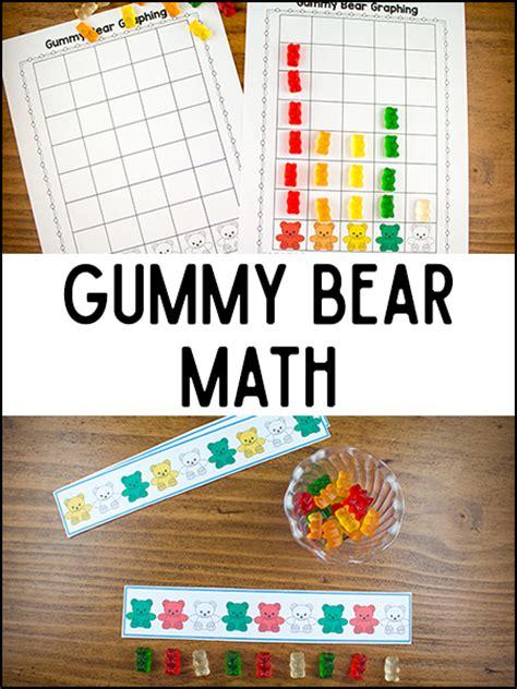 gummy math printables prekinders 247   gummy bear math3