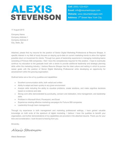 unique cover letter creative cover letter sles template