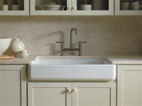 Kohler Retrofit Apron Sink by Kohler K 6488 0 Whitehaven Self Trimming Apron Front