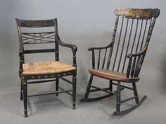 Hitchcock Rocking Chair Black by Alfonso Marina Ebanista Black Gold Painted Chair L