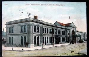 Des Moines Iowa ~ 1910 Union Passenger Railroad Station | eBay