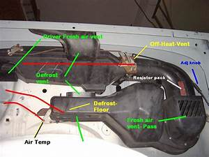Heater  Vent System And Cables Diagram