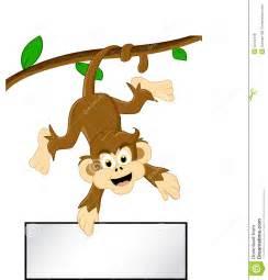 Cartoon Monkey On Tree