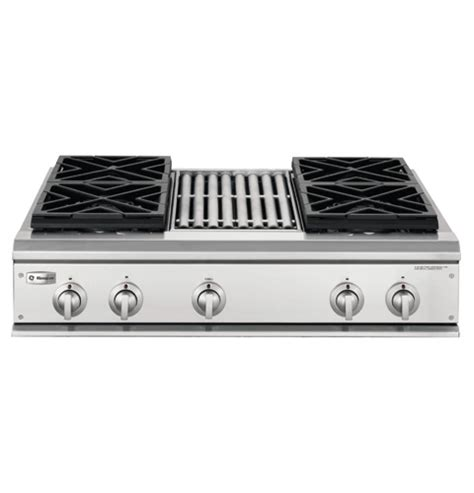 zgulrhss ge monogram  professional gas cooktop   burners  grill liquid propane